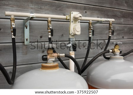 Residential propane gas supply facilities