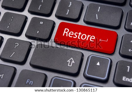restore concepts, with a message on enter key of keyboard.