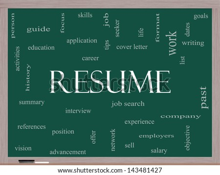 resume word cloud concept great terms stock illustration 143481439