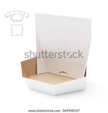 Retail Hexagonal Custom Box with Counter Display and Die Cut Template