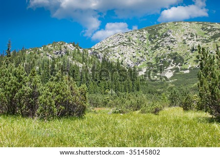 Retezat Mountains in Romania.