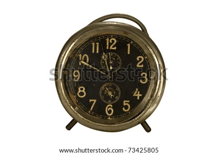 Retro alarm isolated on white