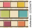 Retro background with film strips. Raster version - stock photo