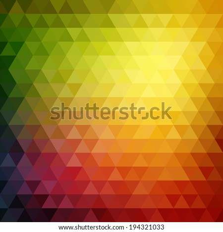 Retro mosaic pattern of geometric texture from triangle shapes, abstract  background illustration