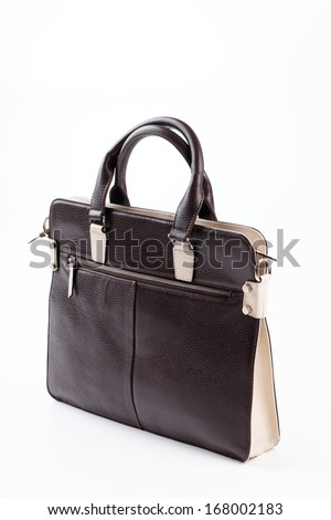 Retro Sytle Woman Handbag on isolated white background