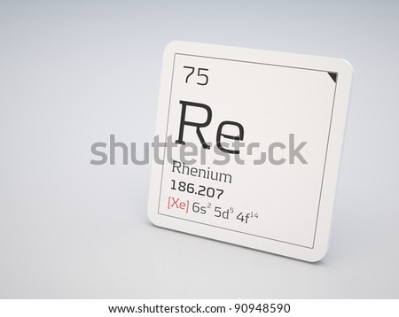 Rhenium - element of the periodic table