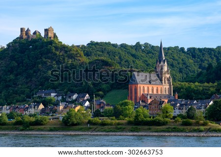 Rhine Valley nearby Oberwesel/Germany