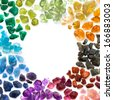 Rich variety of colorful natural gems. - stock photo