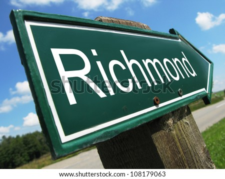 Richmond road sign