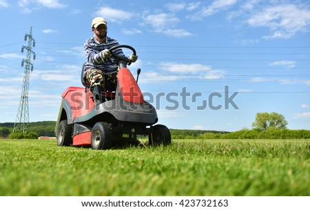 Ride-on lawnmower