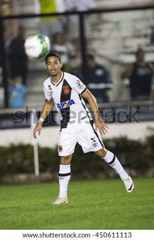 Rio de Janeiro, Brasil - july 09, 2016: Yago Pikachu player in match between Vasco and Brasil by the Brazilian championship in the Sao Januario Stadium