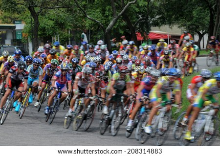 Rio de Janeiro-Brazil May 20, 2014. Brazilian championship bike race, stage of Rio de Janeiro. athletes training for the 2016 Olympics.