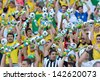RIO DE JANEIRO - JUNE 02: public during friendly match between Brazil vs England in Maracana Stadium on june 02, 2013 in Rio de Janeiro, Brazil. - stock photo