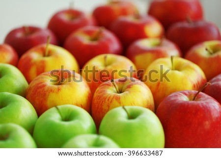 Ripe apples, closeup