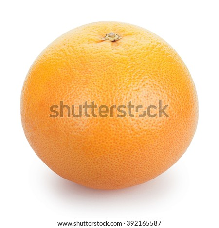 Ripe fresh Grapefruit on white background. Clipping Path