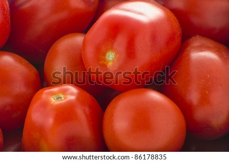 Ripe red plum tomatoes