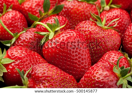 Ripe strawberry fruit berry closeup background