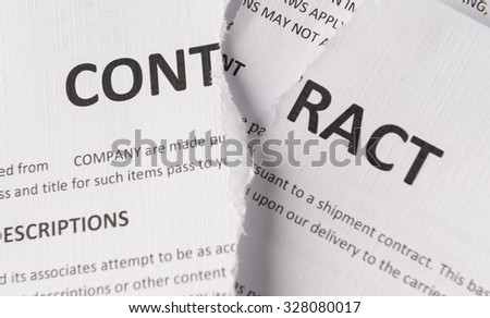 ripped up contract