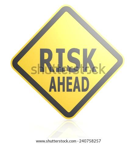 Yellow Triangle Hazard Warning Sign Risk Stock
