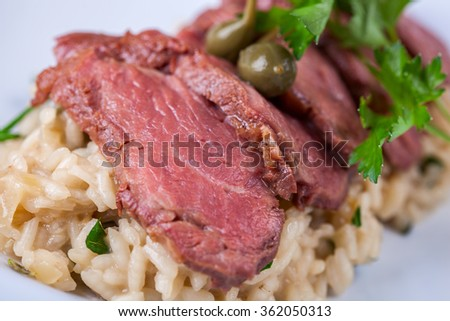 Risotto with duck breast