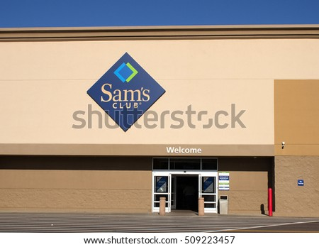 RIVER FALLS,WISCONSIN-NOVEMBER 02,2016: The entrance to a local Sam's Club big box store.