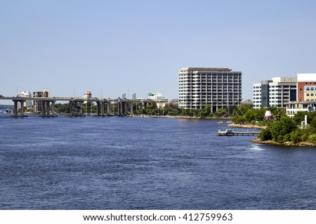 Riverside, as seen from downtown Jacksonville, Florida