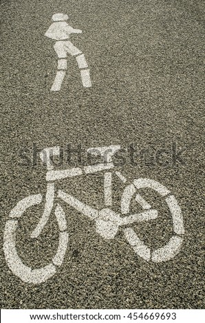 Road and traffic signs and symbols / Sign and symbols / Safety signs for both pedestrian and drivers of vehicles including motorcycles and bicycles