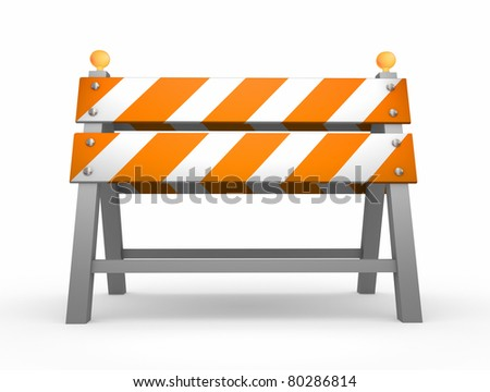 Road barrier - isolated on white background