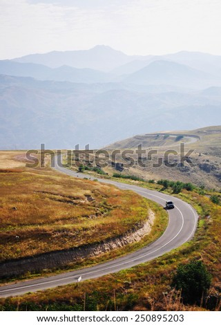 road curve in the mountains
