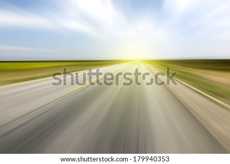Road distance