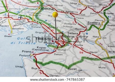 Road Map City Udine Italy Stock Photo 747871537 Shutterstock