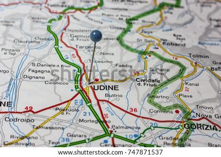 Road Map City Sondrio Italy Stock Photo 747858340 Shutterstock