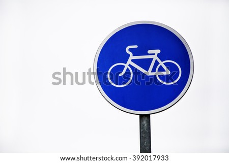Road sign. Bicycle line.