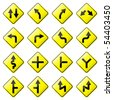 Road Sign Glossy Raster (Set 1 of 8) - stock photo