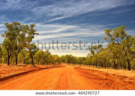 Road to Cobbold Gorge, Forsayth, Outback Queensland, Australia