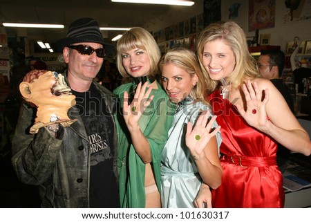 Robert Rhine, Rena Riffel, Bridgetta Tomarchio and Ashley King  at the Girls and Corpses Magazine Summer Alien Autopsy Issue Party, Meltdown Comics, Hollywood, CA. 08-20-10