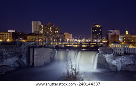 Rochester at Night.  Rochester, New York, US.