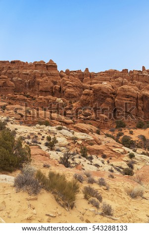Rocky Desert Landscape with Blue Skies