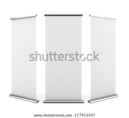 Blank Rollup Banner Display Isolated Clipping Stock Vector ...
