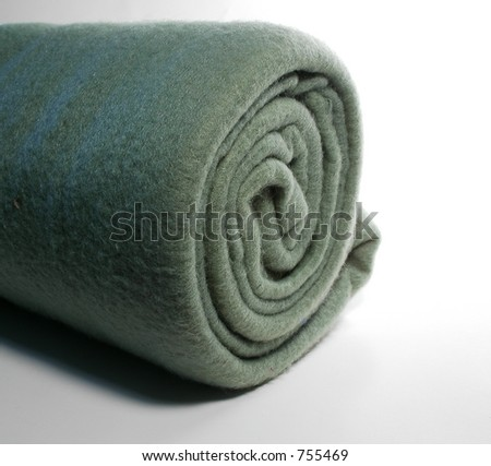 Rolled Fleece, green