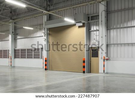 Roller shutter door and concrete floor inside factory building for industrial background. & Shutter Door Roller Door Concrete Floor Stock Photo 707931454 ...