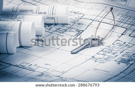 Architecture Blueprints 3d apartment architecture plans 3d building structure stock photo