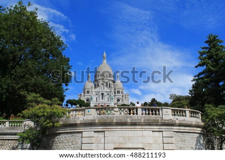 Roman Catholic church and minor basilica, dedicated to the Sacred Heart of Jesus, in Paris