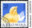 ROMANIA - CIRCA 1963: The image of a cock. Poultry, circa 1963. - stock photo