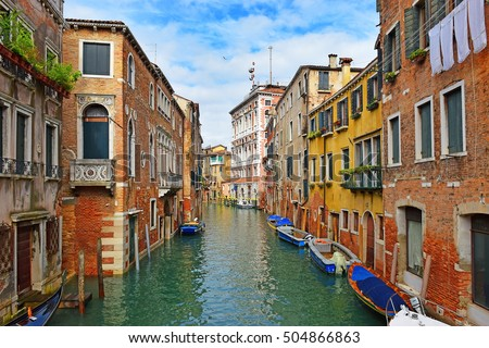 romantic urban landscape of old Venice - Mistress of the Adriatic