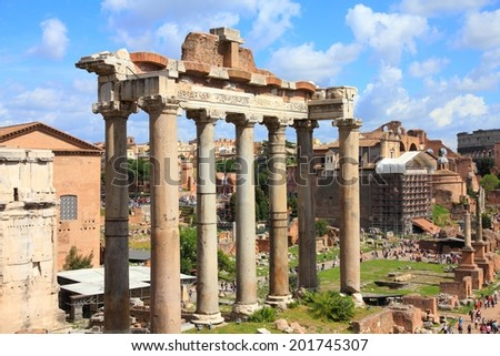 Rome, Italy - ancient Roman Forum, UNESCO World Heritage Site