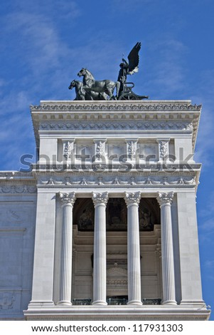 Rome, Italy. Architectural details of historical sights