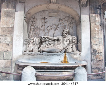 Rome, Italy-August 7: The Quattro Fontane and the River Arno on August 7,2013 in Rome, Italy.