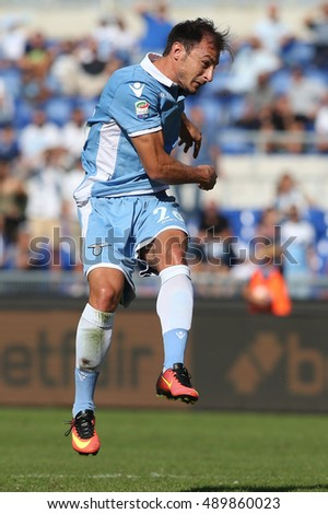Rome, Italy 25 september, 2016: Radu in action during the match Serie A league  between Lazio vs Empoli in Olimpic stadium in Rome on September 2016.