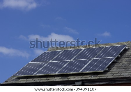 Roof Mounted Solar Panels in Manchester England